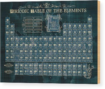 Periodic Table Of Elements Wood Prints