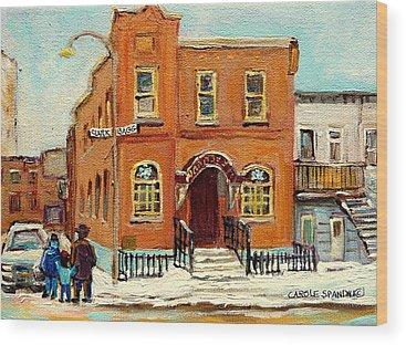 Montreal Synagogues Wood Prints