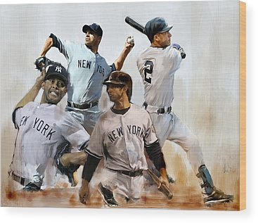 New York Yankees Wood Prints