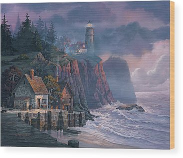 Lighthouse Wood Prints