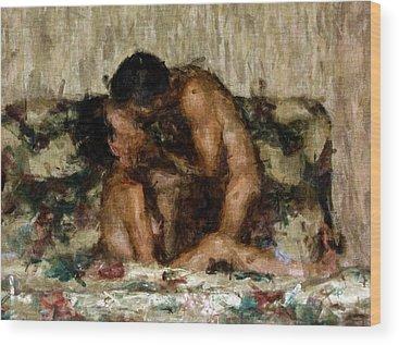 Nude Couple Wood Prints