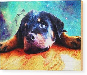 Rottweiler Wood Prints