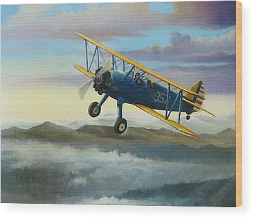 Airplane Pilot Wood Prints