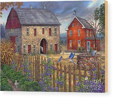Farming Wood Prints