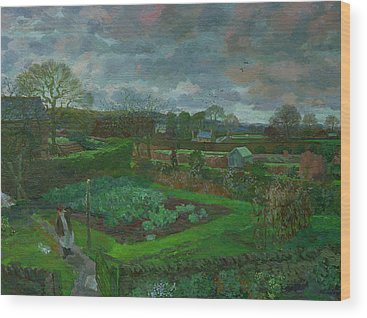 Vegetable Patch Wood Prints
