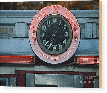 Neon Photographs Wood Prints