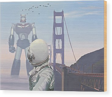 San Francisco Bridge Wood Prints