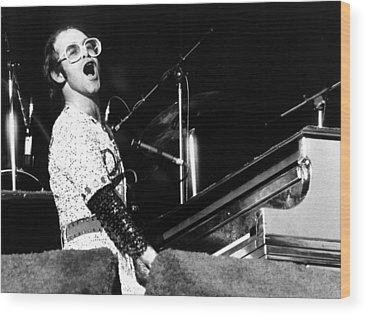 Elton John Wood Prints