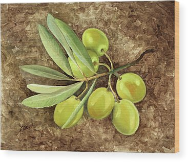 Olive Oil Wood Prints