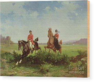 The Blue Rider Wood Prints