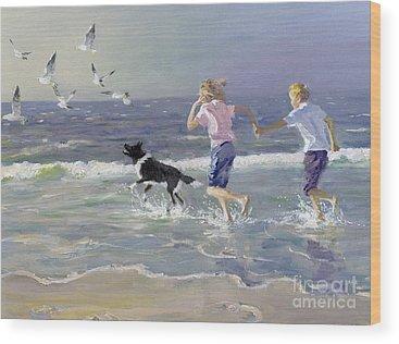 Running Water Wood Prints