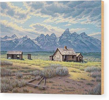 Old Cabin Wood Prints