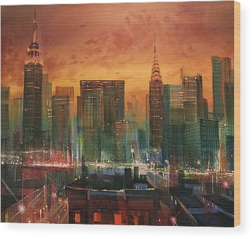 City Scene Wood Prints