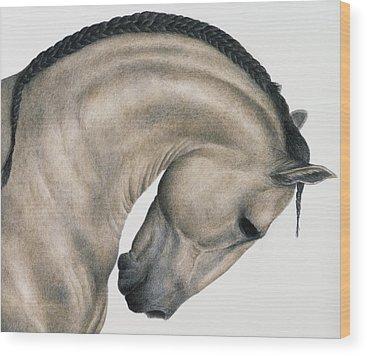 Horse Mane Wood Prints
