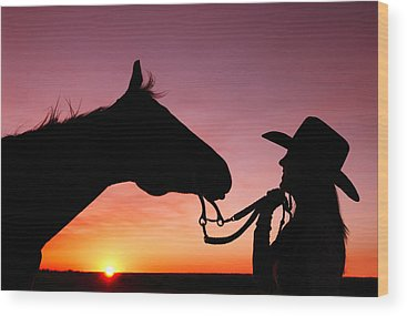 Cowgirls Wood Prints