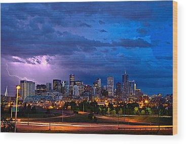 Denver Sunset Wood Prints