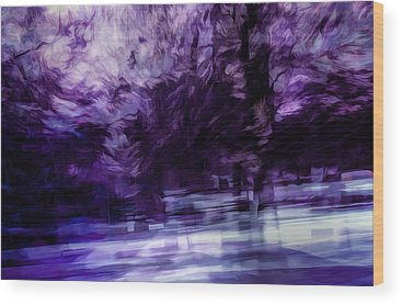 Dark Purple Wood Prints