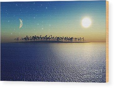 Full Moon Wood Prints