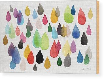 Rain Wood Prints