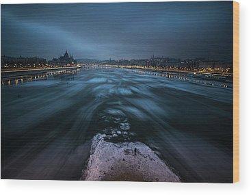 Frozen River Wood Prints