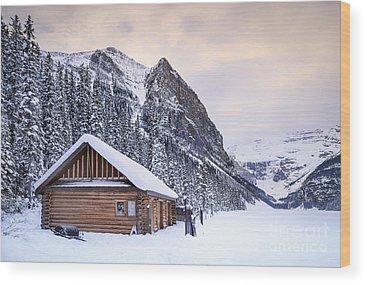 Log Cabin Wood Prints