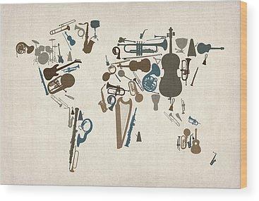 Music Wood Prints