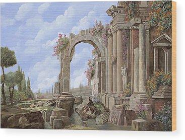 Roman Arch Wood Prints