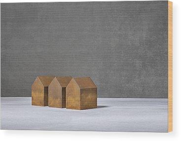 Abstrait Wood Prints