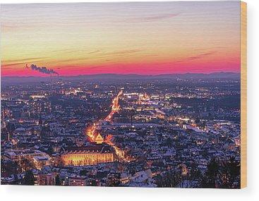 City Lights Wood Prints