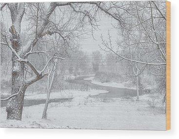 South Platte River Wood Prints