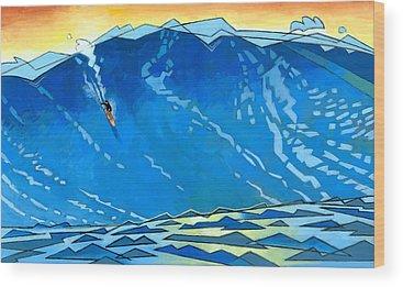 Surfer Wood Prints