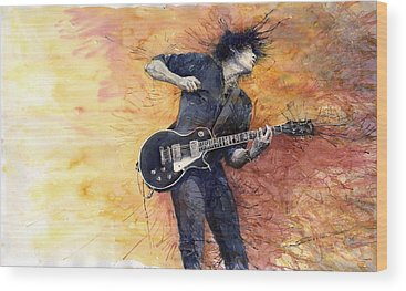 Guitarist Wood Prints