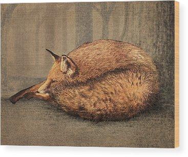 Red Fox Wood Prints