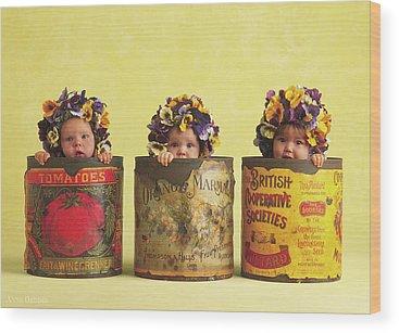 Pansies Wood Prints