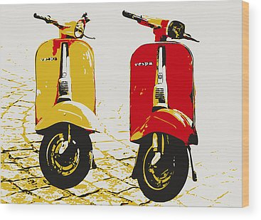Vespa Wood Prints