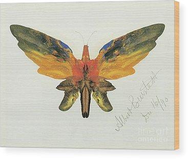 Decalcomania Wood Prints