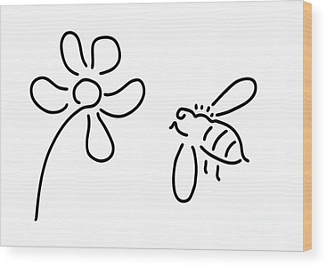 Natures Bees Wood Prints