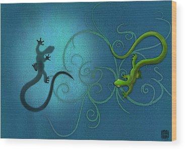 Lizard Wood Prints