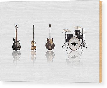The Beatles Ringo Starr Wood Prints