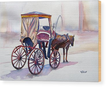 Carriage Horse Wood Prints