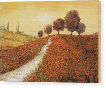 Poppy Field Wood Prints