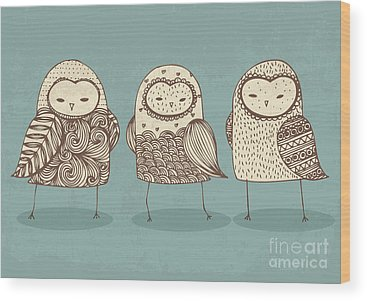 Spotted Owl Wood Prints