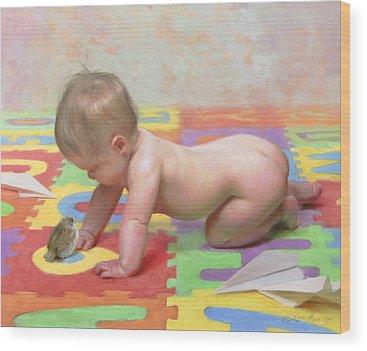 Babies Wood Prints
