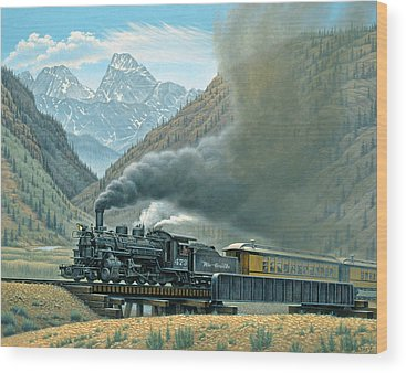 Steam Train Wood Prints