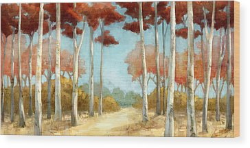 Birch Trees Wood Prints