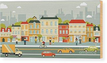 Urban Scene Wood Prints