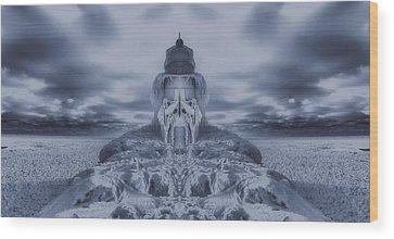 Frozen Tundra Digital Art Wood Prints
