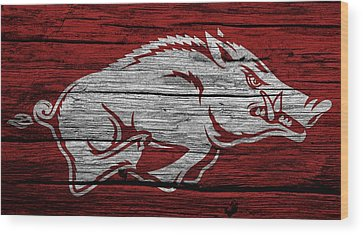 University Of Arkansas Wood Prints