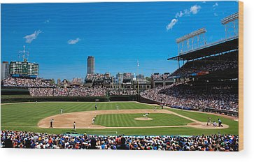 Wrigley Field Wood Prints