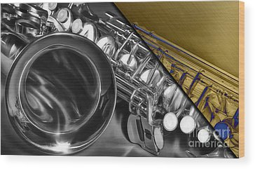 Saxophone Wood Prints